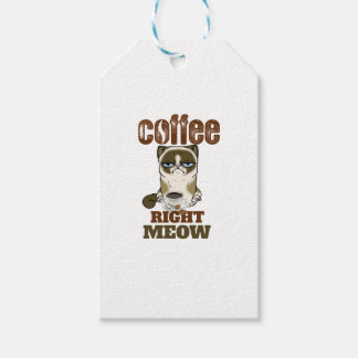 Coffee Right Meow Gift Tags