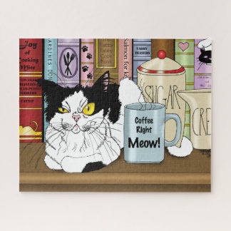 Coffee Right Meow!! Jigsaw Puzzle