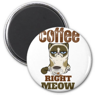 Coffee Right Meow Magnet