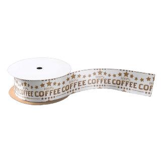 coffee satin ribbon
