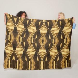 Coffee Shades Kaleidoscope Fleece Blanket