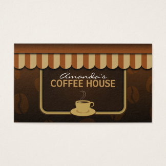 Coffee Shop Brown Professional Cafe Business Cards