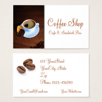Coffee Shop Cafe Sandwich - Business Card