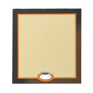 Coffee Shop Coffee Cup Cafe Writing Pads Note Pads