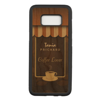 Coffee Shop Coffee Lover Wooden Samsung S8 Cover