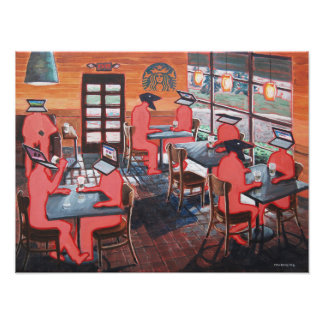 Coffee Shop Culture Photographic Print