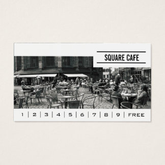 Coffee Shop Custom Photo Banner Loyalty Business Card