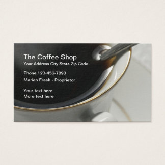 Coffee Shop Design Business Card