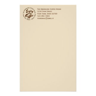 """Coffee Shop """"Enjoy Our Coffee"""" Business Stationery Paper"""