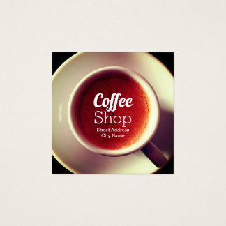 Coffee shop mug cover square business card