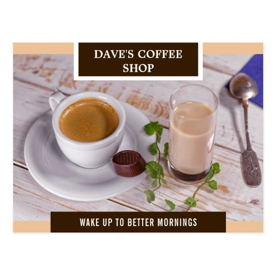 Coffee Shop Opening | Open Now | Direct Mail Postcard