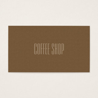 Coffee Shop Professional Business Card