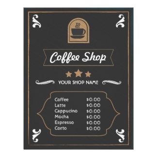 Coffee Shop Retro photo and logo Menu Card