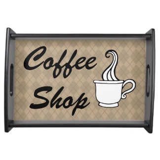 Coffee Shop Serving Snack Entertaining Decor Tray Service Tray
