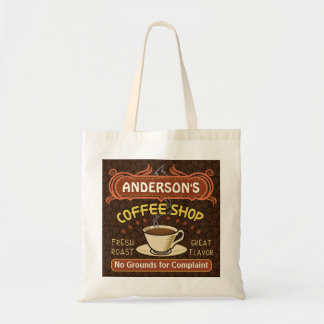 Coffee Shop with Mug Create Your Own Personalized Budget Tote Bag