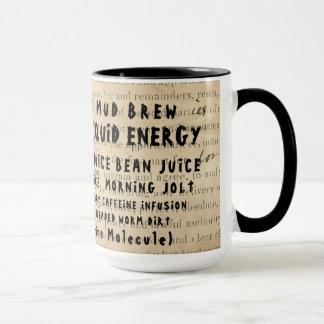 COFFEE SLANG NAMES FOR COFFEE ON EPHEMERA OLD DEED MUG