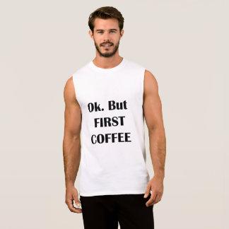 Coffee Sleeveless Shirt
