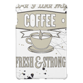 Coffee slogan iPad mini cover