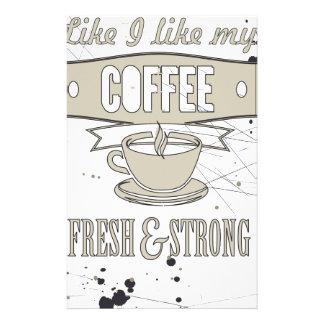 Coffee slogan stationery