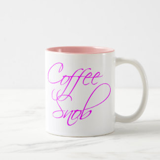 Coffee Snob Two-Tone Coffee Mug
