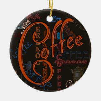 Coffee Spice Ceramic Ornament