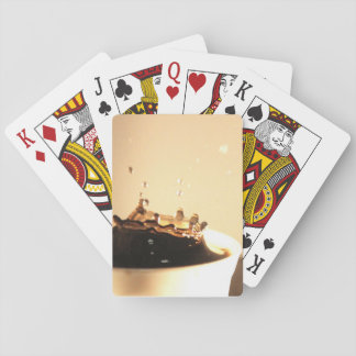 Coffee Splashes Playing Cards