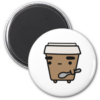 Coffee & Spoon 2 Inch Round Magnet