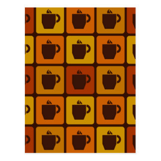 Coffee Squares postcard, customizable Postcard