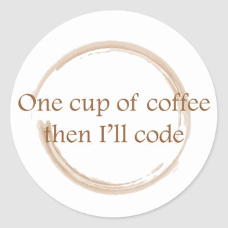 Coffee stain classic round sticker