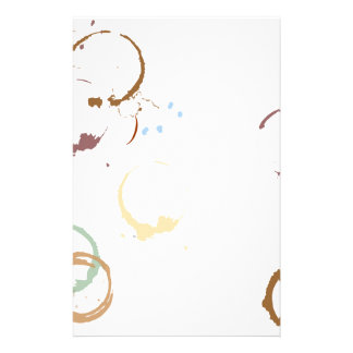 Coffee Stain Grungy Stationery