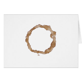 Coffee Stain Pattern Card