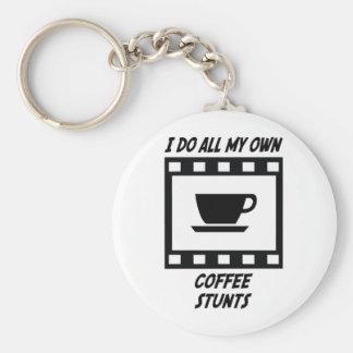 Coffee Stunts Basic Round Button Keychain