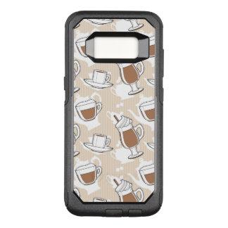 Coffee, sweet pattern OtterBox commuter samsung galaxy s8 case