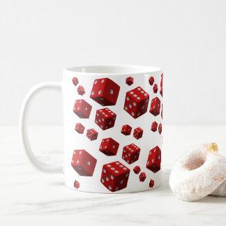 Coffee tea red dice mugs for everyone