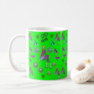 coffee tea teenagers shoes mug green