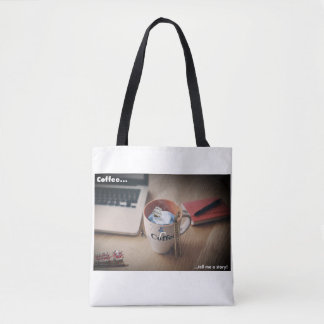 Coffee tell me a story hipster bag