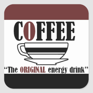Coffee the ORIGINAL energy drink Square Sticker