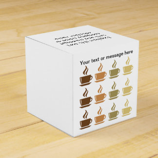 Coffee Theme Party Favor Box