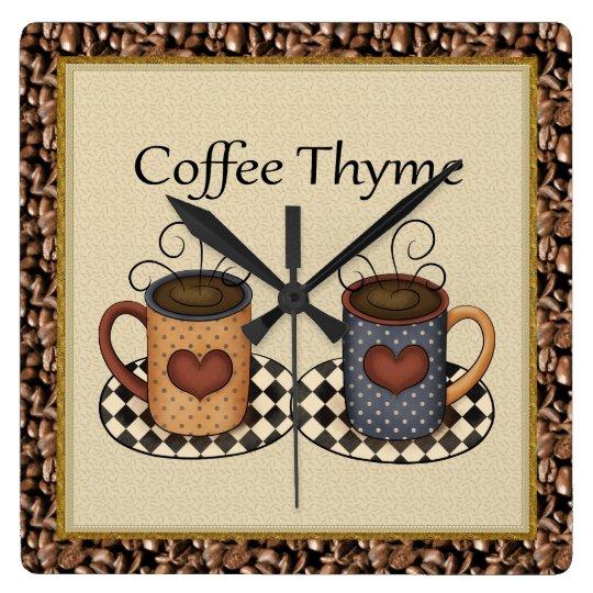 Coffee Thyme clock
