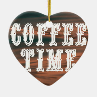 Coffee Time Ceramic Ornament