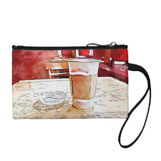 Coffee Time clutch bag Coin Purses
