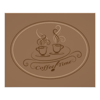 Coffee time design poster