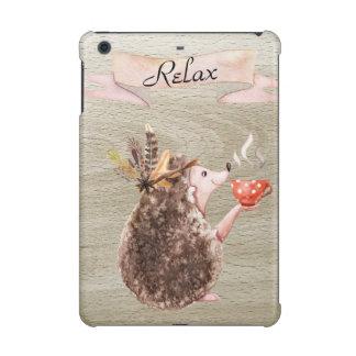 Coffee Time Porcupine iPad Mini Case