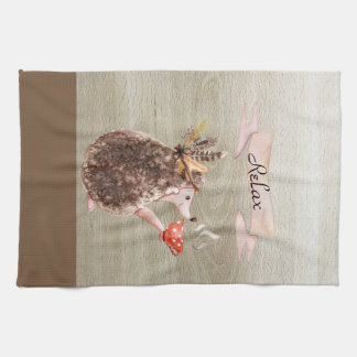 Coffee Time Porcupine Kitchen Towel