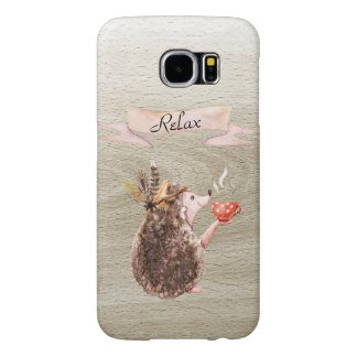 Coffee Time Porcupine Samsung Galaxy S6 Cases