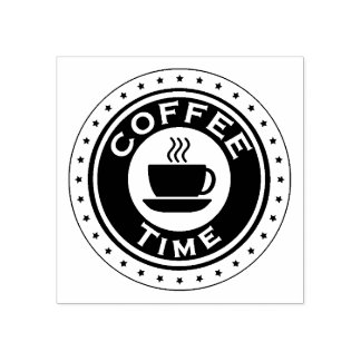 Coffee Time Rubber Stamp