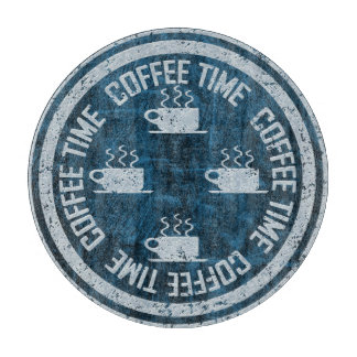 Coffee Time Silver on Blue Boards