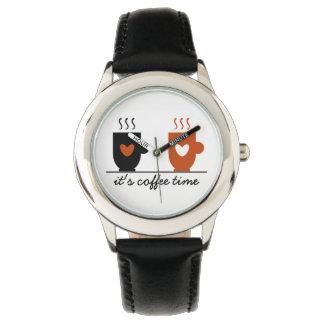 Coffee Time Stylish Cartoon Funny Trendy Cute Warm Watch