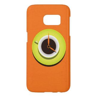 Coffee Time Stylish Vibrant Orange Samsung Galaxy S7 Case