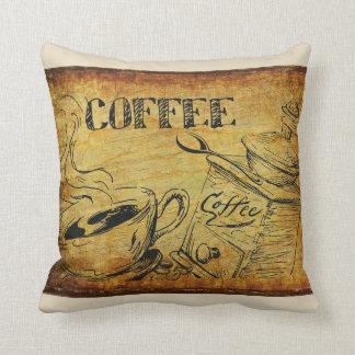 Coffee Time Vintage Sign Throw Pillow